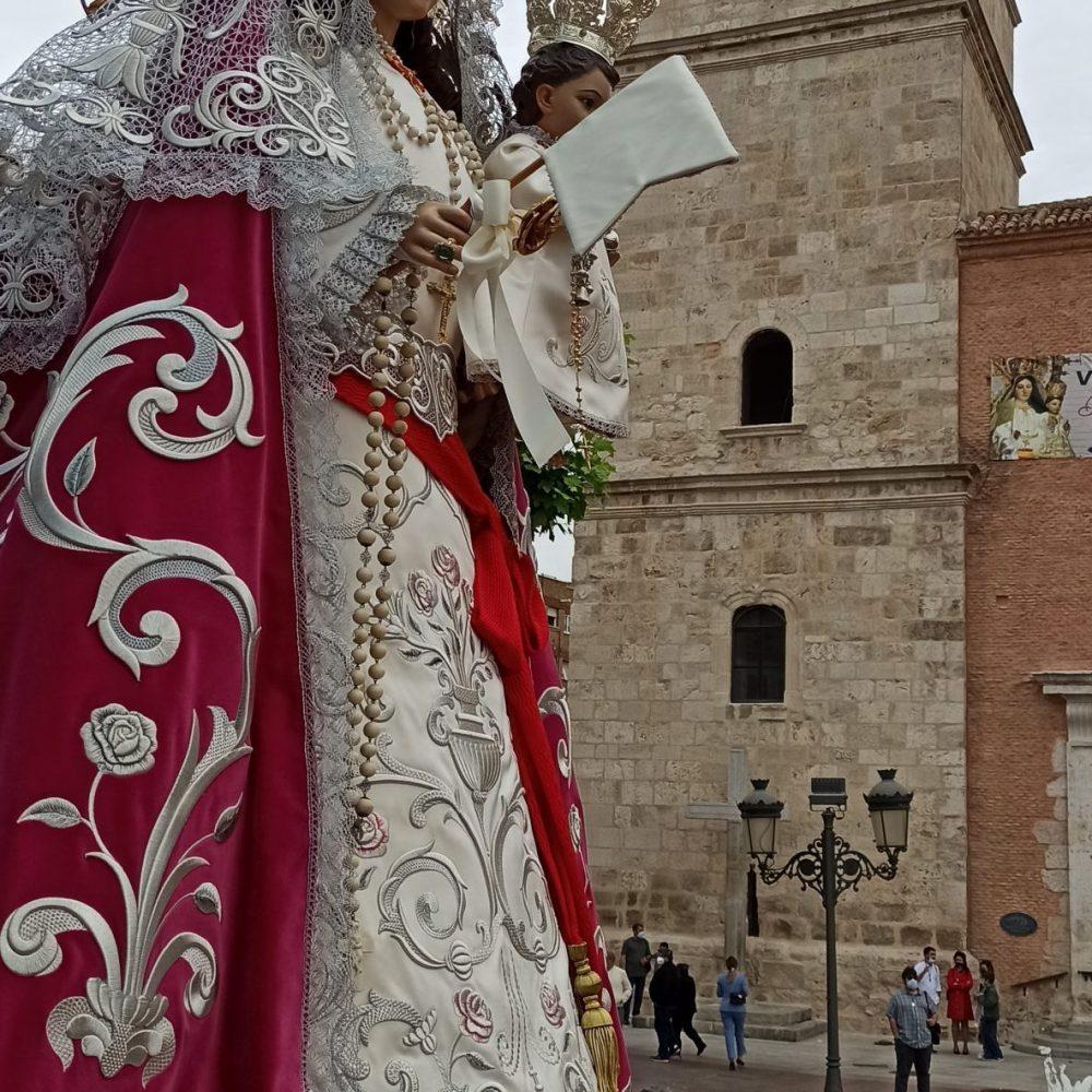 Vista lateral Virgen del Rosario, Torrejón de Ardoz